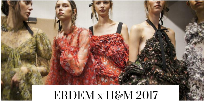 ERDEM x H&M  – FOLK FALL TREND2017
